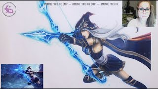 Finishing Ashe from League of Legends (Copic and Faber-Castell Polychromos)