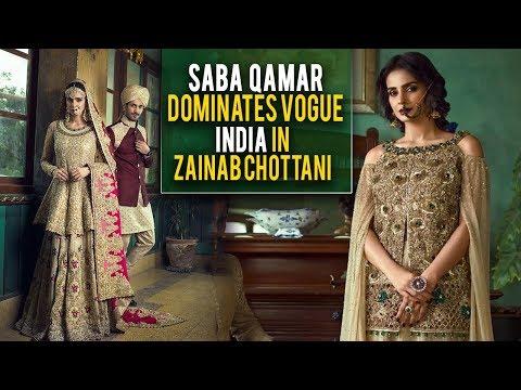 75f1733fec Saba Qamar dominates Vogue India in Zainab Chottani | Desi Tv - YouTube