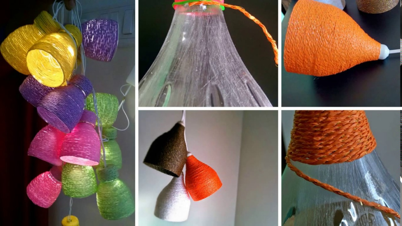 Art and craft ideas of waste material for the house for Best out of waste house