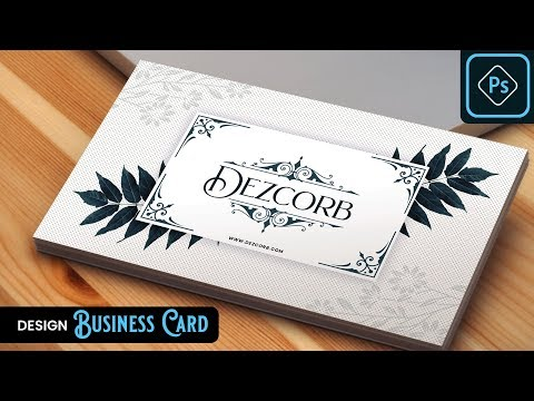 How to Design Vintage Looking Business Card in Photoshop CC 2019 | Tutorial | Front Side thumbnail