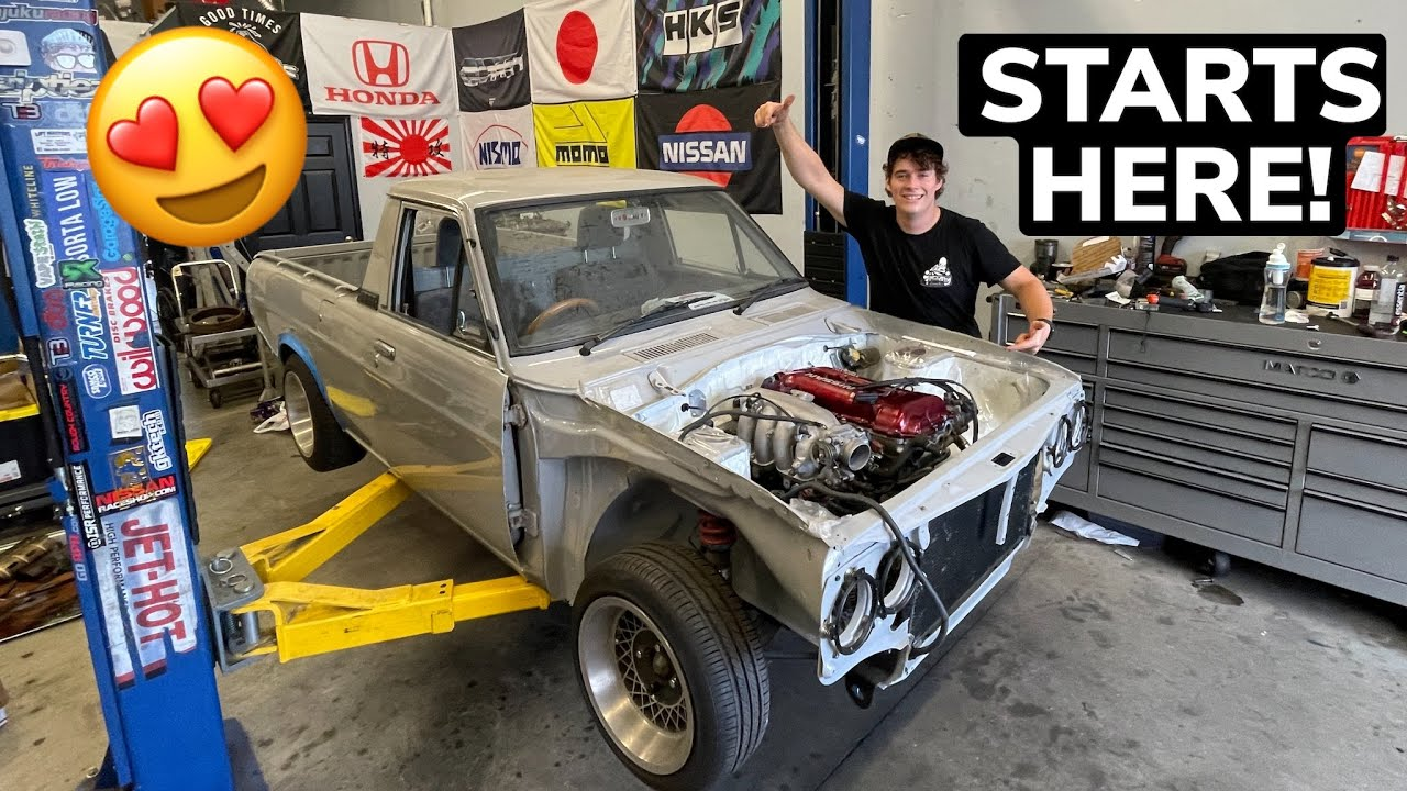 DAY ONE: PUTTING TOGETHER MY DATSUN SUNNY MINI TRUCK!
