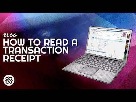 How to Read an Ethereum Blockchain Explorer Receipt