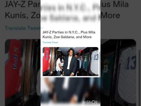 JAY-Z Parties in N.Y.C., Plus Mila Kunis, Zoe Saldana, and More  #shorts