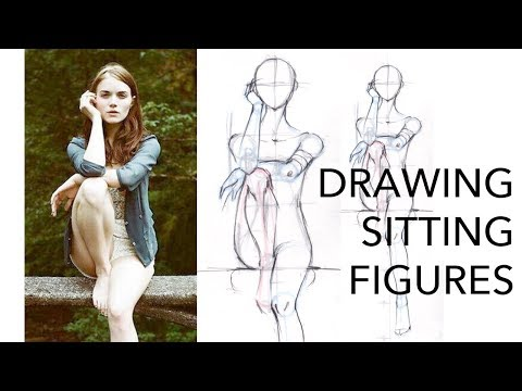 How to Draw Sitting Fashion Figures