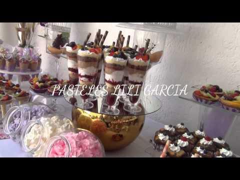 Pastel y mesa de postres para 1ra comunion por lili - Ideas para mesas dulces de comunion ...