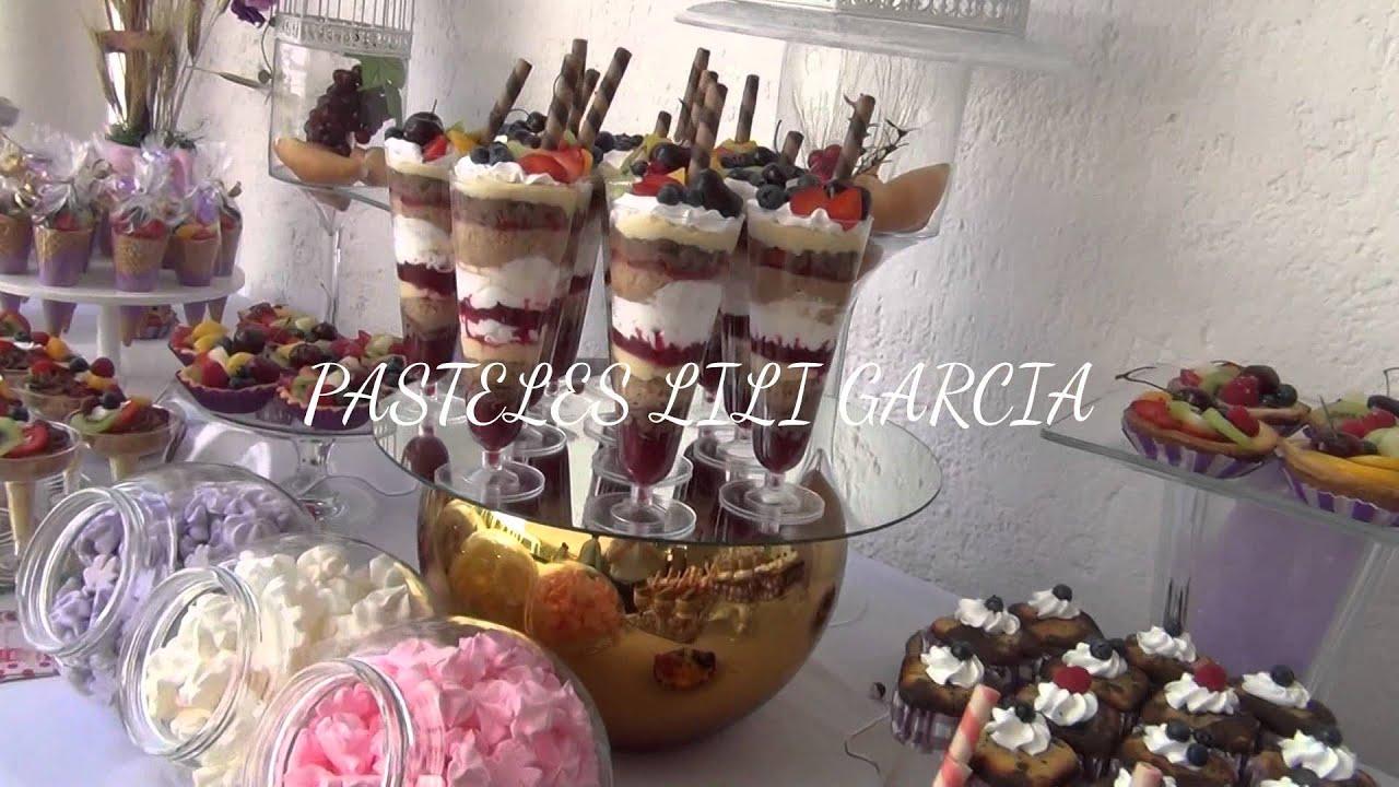 Pastel y mesa de postres para 1ra comunion por lili for Mesa de postres para boda