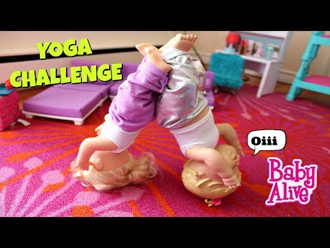 Baby Alive Partner Yoga Challenge with Bailey and Brianna