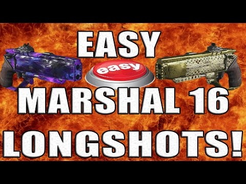 FAST AND EASY MARSHAL 16 LONGSHOTS - ALL THE BEST SPOTS - BLACK OPS 3 TIPS AND TRICKS