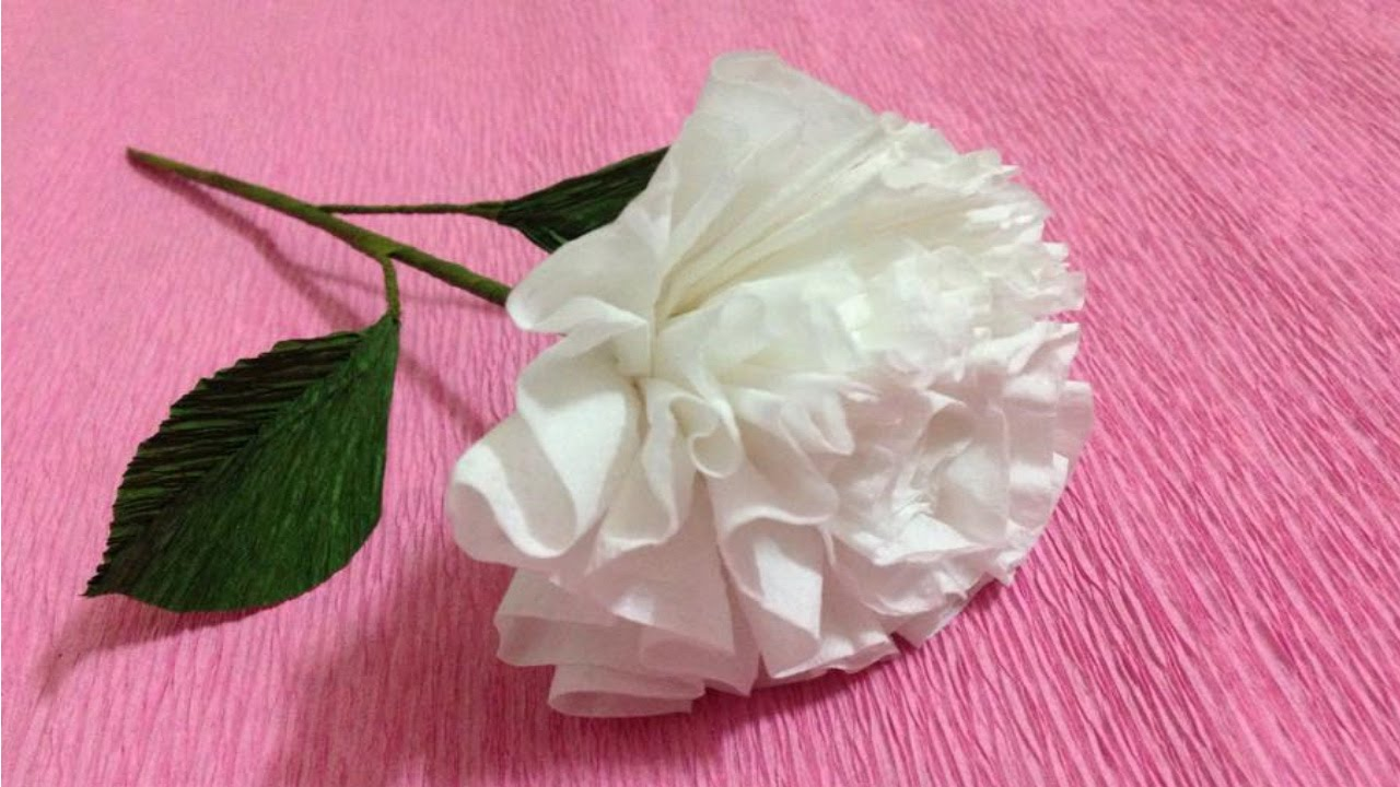 How to make tissue paper flowers making tissue paper flowers youtube premium mightylinksfo