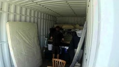 Moving Furniture Interstate - How to Pack a Moving Container - Time Lapse