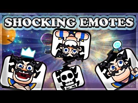 NEW Electro Wizard Emotes! | Clash Royale 🍊