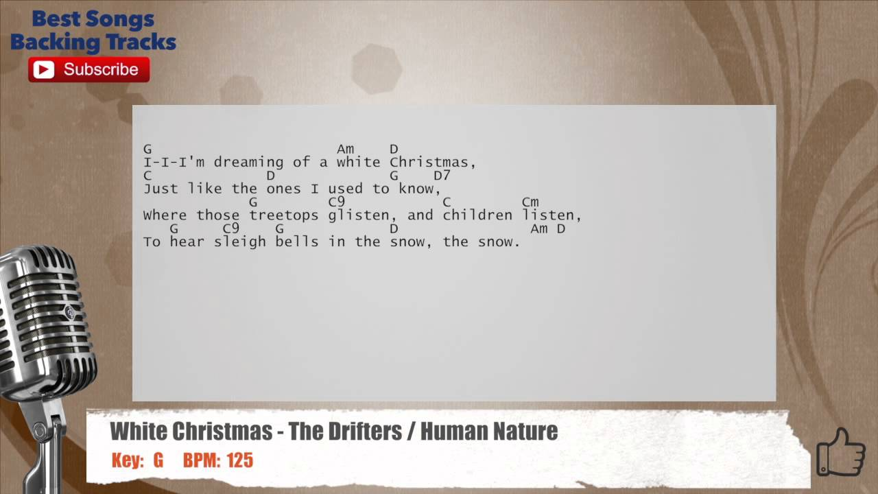 White Christmas - The Drifters / Human Nature Vocal Backing Track ...