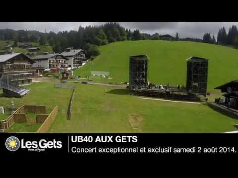 Timelapse - Scène pour le concert exceptionnel de UB40 aux Gets