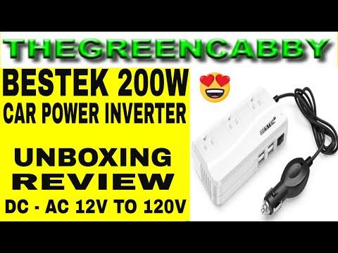 BESTEK 200 WATT POWER INVERTER FOR CAR & VEHICLE UNBOXING & REVIEW DC to AC 12V to 120V