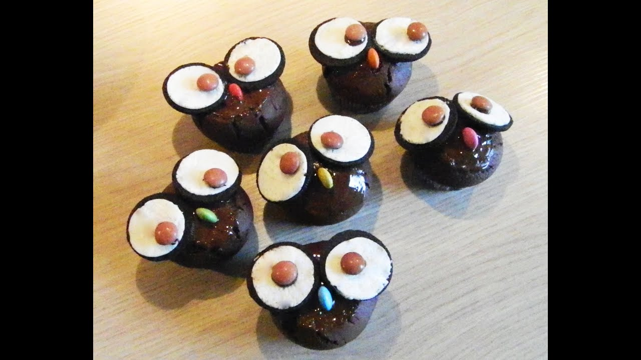 How to make cute OwlCupcakes YouTube