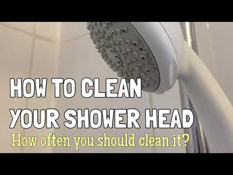 How To Clean Your Shower Head Using Vinegar