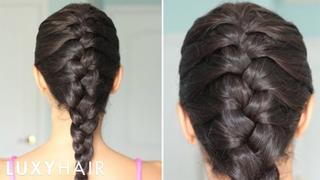 How To Basic French Braid Youtube