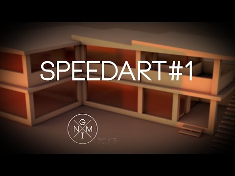 Speedart [#1]  Modern House by GMNI (Cinema4D)