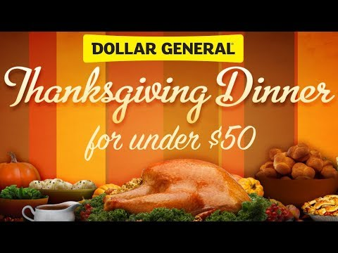 Dollar General Thanksgiving Dinner ( All For Under $50)
