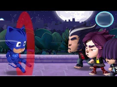 PJ Masks Howling Havoc: Disney Junior Wolfy Kids VS Catboy