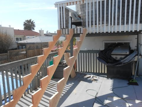 2nd Story Wood Stair Installation & Repairs