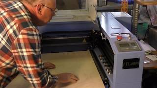 100w laser cutting a window panel making $3000+ per day