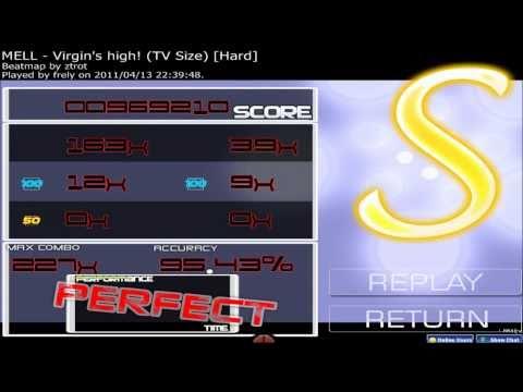【osu!】MELL-Virgin's high!(TV Size)[Hard]