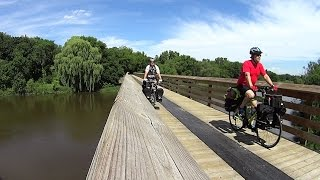 Midwest Bike Touring - Milwaukee to Lake Mills, Wisconsin