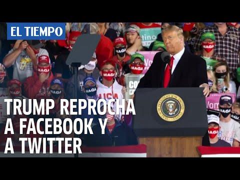 Trump reprocha a Facebook y a Twitter por censurar un artículo crítico hacia Biden