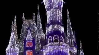 2012 Cinderella Castle Christmas Lighting at Magic Kingdom, Walt Disney World