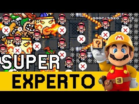 Pierdo Todas las Vidas en el Inicio ??!! - SUPER EXPERTO NO SKIP   Super Mario Maker - ZetaSSJ