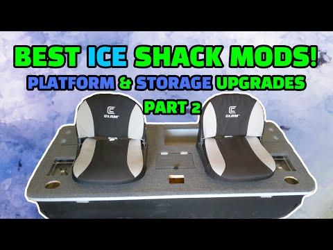 Trick Your Trap! CUSTOM Ice Shack (Fish Trap) Modifications Part 2. Platform And Storage Upgrades!
