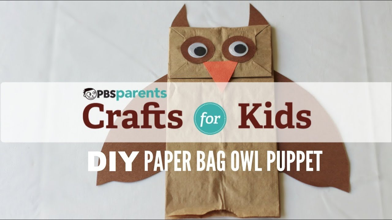 Paper bag puppet owl crafts for kids pbs parents for Brown paper bag crafts for preschoolers
