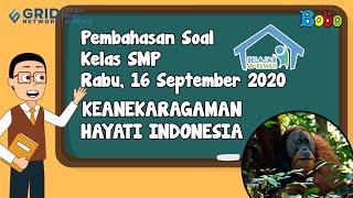 Pembahasan Soal TVRI SMP - 16 September 2020 - Keanekaragaman Hayati Indonesia #BelajardariRumah