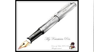 engraved fountain pens