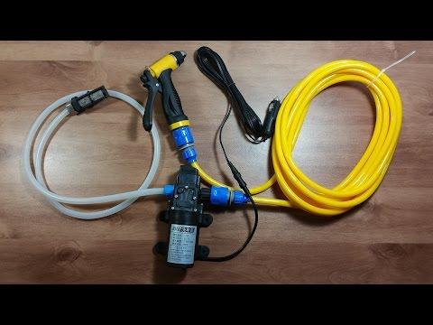 12V 100W High Pressure Mini Portable Car Washer Water Pump water Gun Pipes Kit