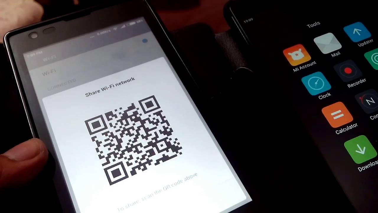 WIFI Password Through QR Code