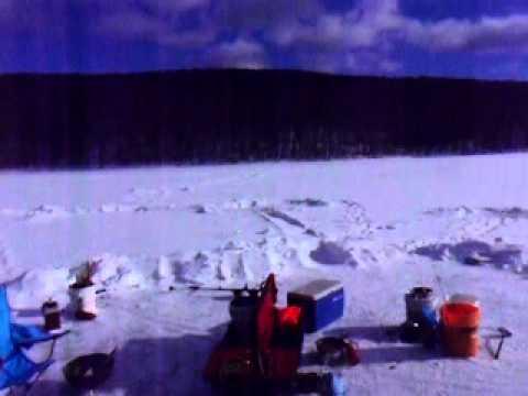 Big pond delaware county ny ice fishing youtube for Ice fishing ny