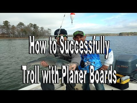 How To Fish With Planer Boards, How To Troll With Planer Boards,How To Catch Fish With Planer Boards