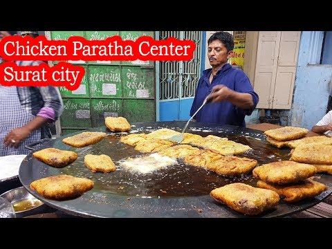Tawa Chicken Paratha Center    Best Paratha Indian Street Food Tour    Chicken Recipe