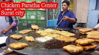 Tawa Chicken Paratha Center | Best Paratha Indian Street Food | Chicken Recipe | Indian Street Food