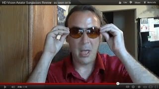 HD Vision Aviator Sunglasses Review - as seen on tv