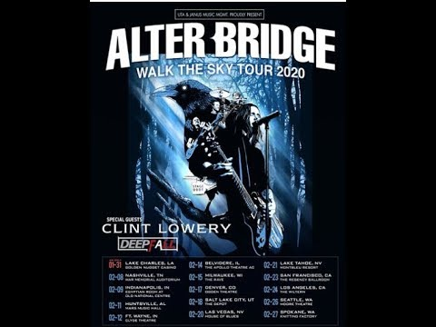 """Alter Bridge announce 2020 """"Walk The Sky"""" tour w/ Clint Lowery and Deepfall"""