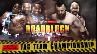 WWE Roadblock End Of The Line 2016: The New Day vs Sheamus & Cesaro - Match Card