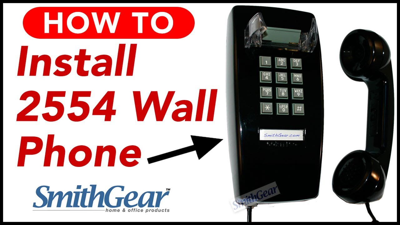 Cortelco 2554 Red Corded Wall Phone Installation from SmithGear com