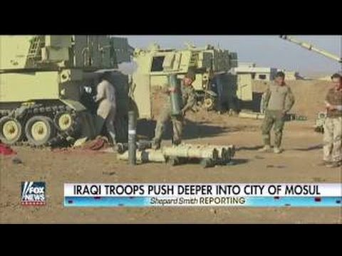 Iraqi troops push deeper into city of Mosul