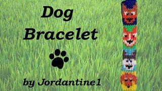 New Dog / Puppy Bracelet - Alpha Loom / Rainbow Loom - German Shepherd, Corgi, Husky, Dachshund