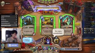 Disguised toast is going up with Renounce Darkness warlock (Journey to Un'Goro)