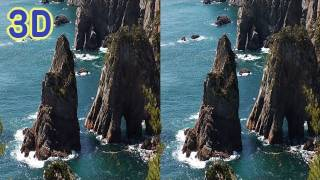 3D-Movie:震災後の松島・浄土ヶ浜・北山崎 Famous coast scenic sites after the Tsunami