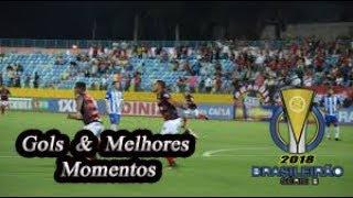 CSA x Atlético-GO - Gols & Melhores Momentos Brasileirão Serie B 2018 36ª Rodada